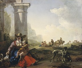 Italian Peasants among Ruins
