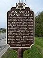 Janesville Plank Road Historical Marker (3514725628).jpg