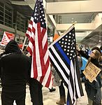 January 2017 DTW emergency protest against Muslim ban - 34.jpg