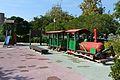 Jardí d'Albalat dels Tarongers de València, parc de jocs infantil amb trenet.JPG
