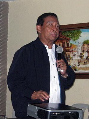 Makati City Mayor Jejomar Binay at a meeting o...