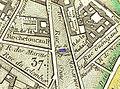 Jeu de Paume de la Bouteille - location on the 1814 Picquet map of Paris.jpg