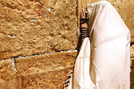 Jew praying at the Western Wall