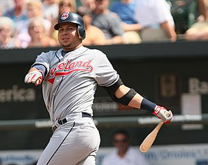 Jhonny Peralta - Peralta batting for the Cleveland Indians in 2009