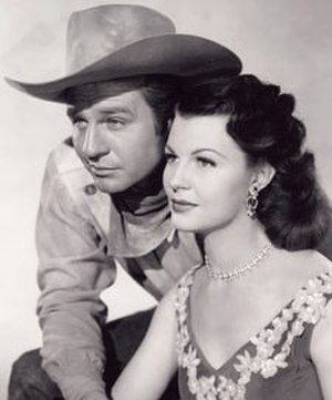 Jim Davis (actor) - Jim Davis and Mary Castle in TV's Stories of the Century (1954)