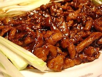 Beijing cuisine - Jing Jiang Rou Si