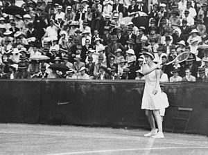 Joan Hartigan - Joan Hartigan competing in a tennis tournament at Milton Stadium in Brisbane, Australia in 1936