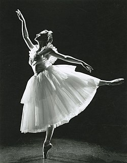 Ballerina Jocelyn Vollmar en pointe
