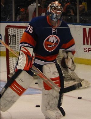 Joey MacDonald - Joey MacDonald playing for the New York Islanders (2009)