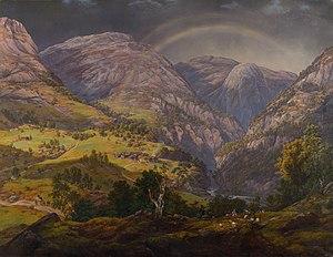 View from Stalheim - Image: Johan Christian Claussen Dahl – View from Stalheim – Google Art Project