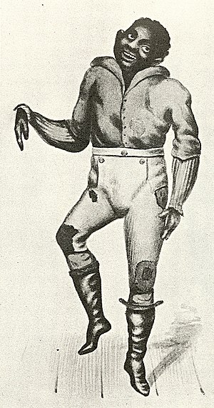 John Diamond (dancer) - John Diamond dancing, from Records of the New York Stage, vol. 2, Part 7, by Joseph N. Ireland.