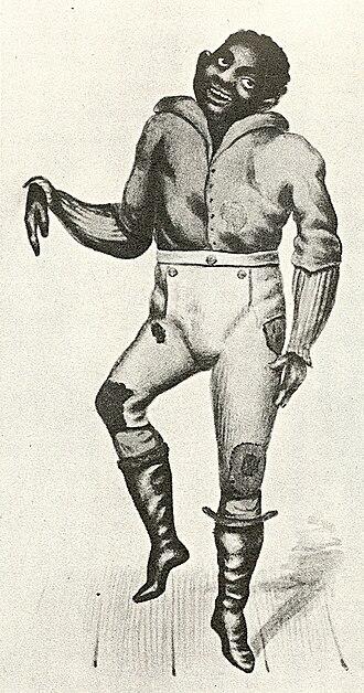 John Diamond (dancer) - John Diamond dancing, from Records of the New York Stage, vol. 2, Part 7, by Joseph N. Ireland.