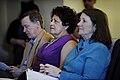 John Hickenlooper, Katherine Archuleta and Congresswoman Dianna DeGette, April 2014.jpg
