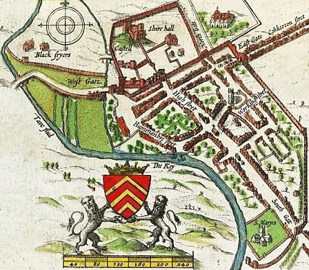 John Speed's map of Cardiff 1610