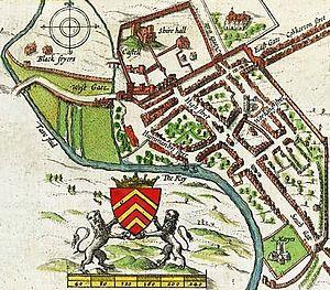 John Speed's map of Cardiff 1610