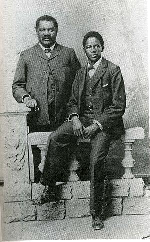 John Tengo Jabavu - John Tengo Jabavu and his son Davidson Don Tengo, around 1903