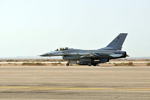 Jordanian F-16 landing