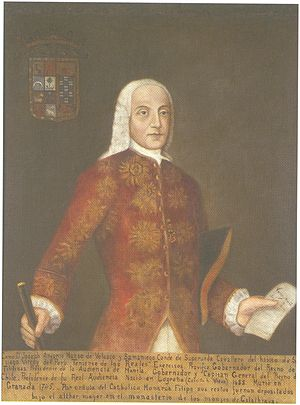 José Manso de Velasco, 1st Count of Superunda - Portrait of Antonio Manso de Velasco in the Museo Histórico Nacional of Chile