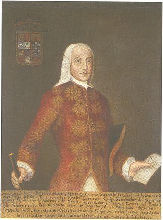 José Manso de Velasco, 1st Count of Superunda - Portrait of Antonio Manso de Velasco in the Museo Histórico Nacional of Chile