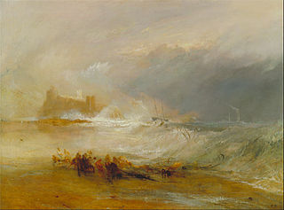 Wreckers -- Coast of Northumberland, with a Steam-Boat Assisting a Ship off Shore