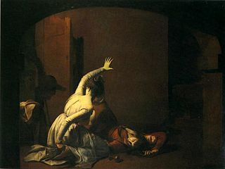 <i>Romeo and Juliet: the Tomb Scene</i> 1790 painting by Joseph Wright of Derby
