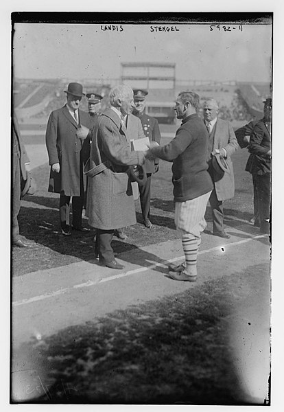 File:Judge Kenesaw M. Landis & Casey Stengel, New York NL (baseball) LCCN2014715986.jpg