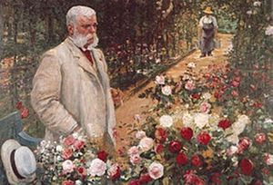 Roseraie de L'Haÿ - Jules Gravereaux in his rose garden in 1900