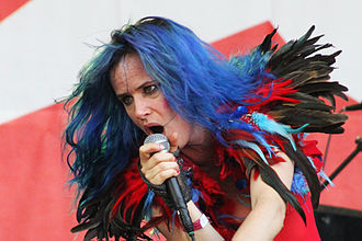 Juliette Lewis - Lewis on Terra Incognita tour with the New Romantiques at Parkpop festival 2010, The Hague, Netherlands
