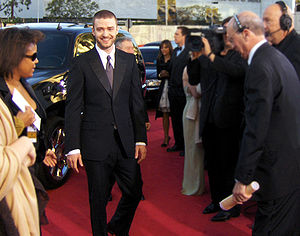 Justin Timberlake arriving at the 2007 Golden Globe Wards