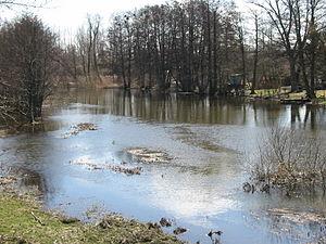 Kävlinge River - Kävlinge River near Gårdstånga