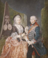 König - Frederick the Great and his wife Elisabeth Christine.png