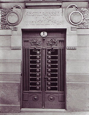 Wolfgang Paalen - Entrance to Paalen's birthplace, Köstlergasse 1, Vienna
