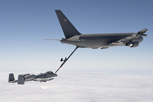 KC-46 refuels A-10 during Milestone C test