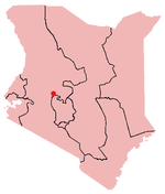 Location of Nyahururu in Kenya