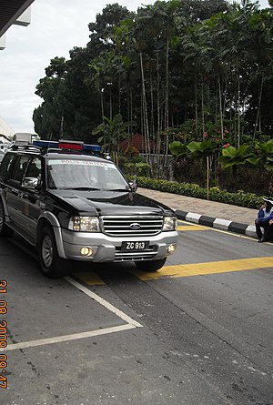 Kor Polis Tentera DiRaja (Malaysia) - The KPTD Ford Explorer patrol vehicle, during the 52nd Independence Day Parade at Parliament Square, Parliament Road, Kuala Lumpur.