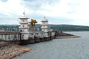 Kabini River - Image: Kabini dam full view