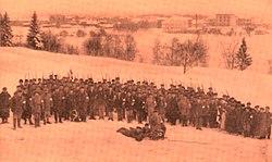 Kajaanin sissit talvella 1918.