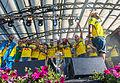 Kaliffa and Sweden national under-21 football team celebrates in June 2015.jpg