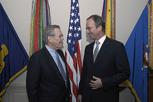 Henk Kamp - Henk Kamp and then United States Secretary of Defense Donald Rumsfeld in 2004.