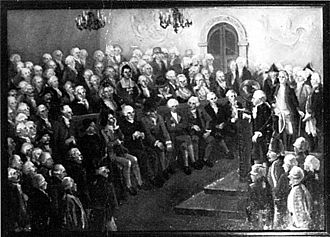 Critique of Pure Reason - Immanuel Kant, lecturing to Russian officers—by I. Soyockina / V. Gracov, the Kant Museum, Kaliningrad