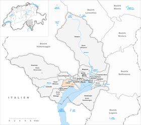 Map of Losone