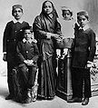 Kasturba and children.jpg