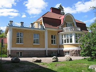 Kauniainen town in the Capital Region of Greater Helsinki, Finland