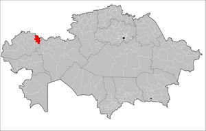 Location of Shyngyrlau District in Kazakhstan