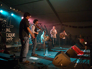 Culture of the Isle of Man - King Chiaullee on stage in Lorient, 2008