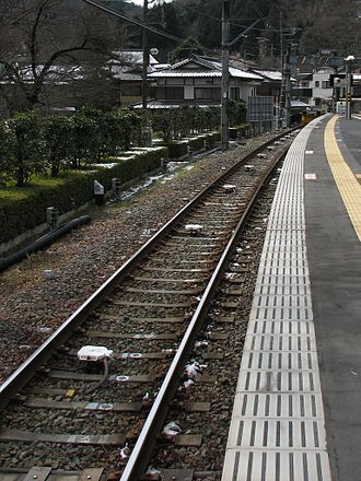 Automatic train stop - Keio ATS transponders at Takaosanguchi Station