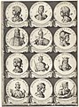 Keizers en koningen, medaillons 84-149, blad 8 Keizers en koningen (serietitel), RP-P-OB-15.656.jpg