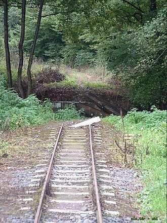 Kemence Forest Museum Railway - The first bridge in 2002, shortly before its restoration