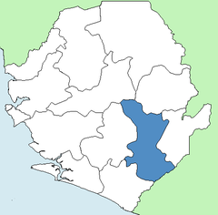 Karte Kenema (Distrikt) in Sierra Leone