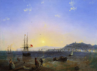 Kerch Strait - View across the strait in 1839, by Ivan Aivazovsky